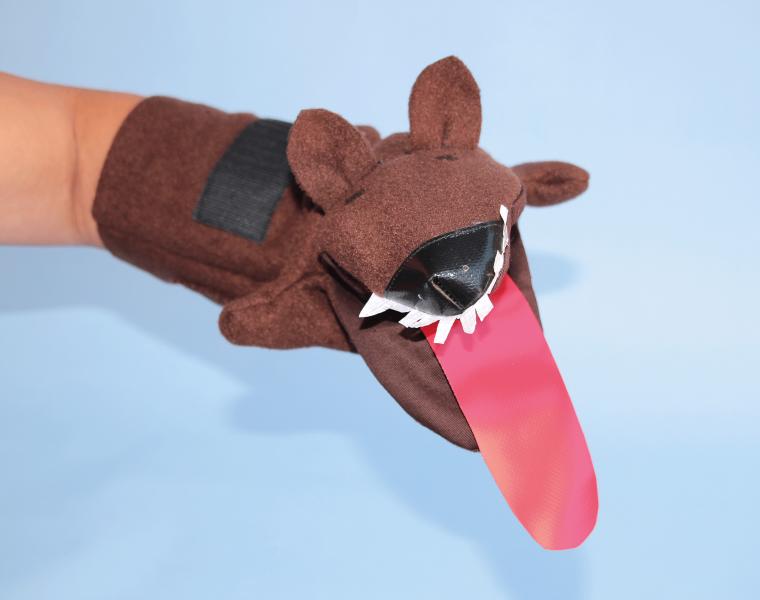 Wolf Handpuppe von Mehr Sinn